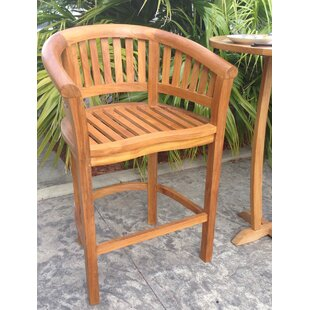 Peanut Teak Patio Bar Stool