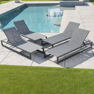 Lindenberg Reclining Sun Lounger Set (Set of 4)