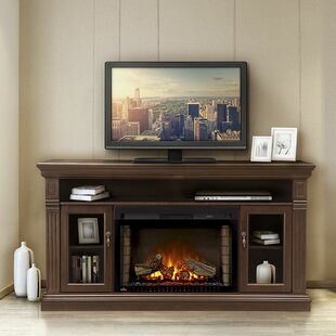 Canterbury TV Stand for TVs up to 60 with Electric Fireplace