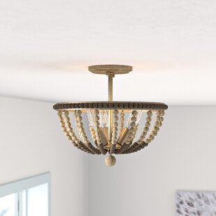 Harding 3-Light Semi Flush Mount by Mistana