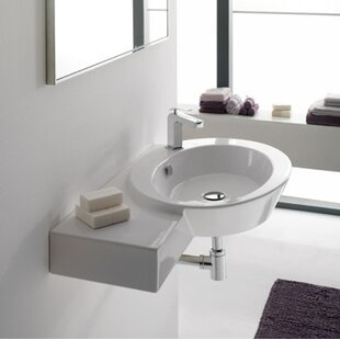 Scarabeo by Nameeks Wish Ceramic Oval Vessel Bathroom Sink with Overflow