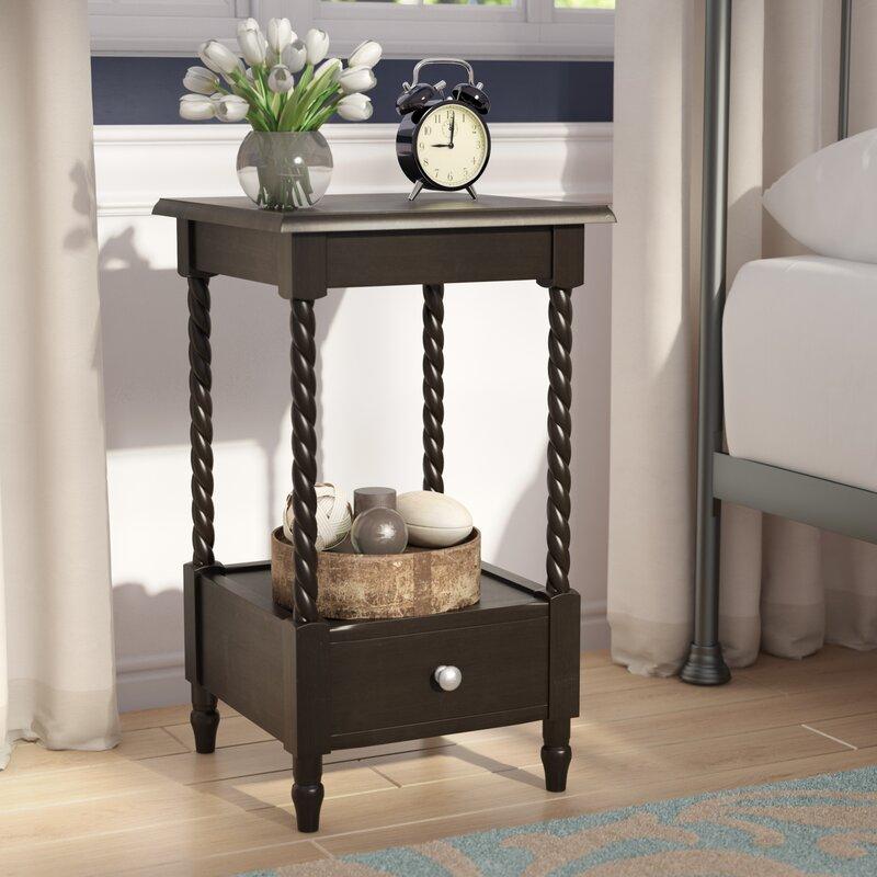 charlton home pratolina 1 drawer nightstand & reviews   wayfair Nightstand Design