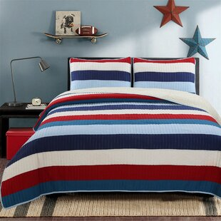 Ressler Stripe 100% Cotton Reversible Quilt Set