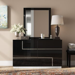 Dalia 6 Drawer Double Dresser with Mirror