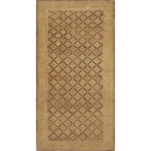 One-of-a-Kind Antique Malayer Handwoven Wool Brown Indoor Area Rug By Mansour