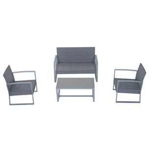 Cohen 4 Piece Sofa Set with Cushions by Ebern Designs