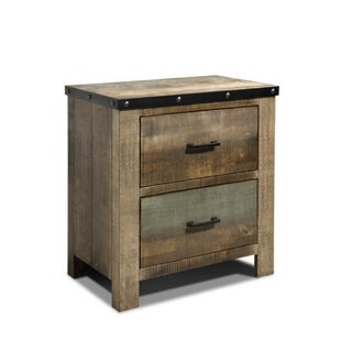 Millwood Pines Zager 2 Drawer Nightstand