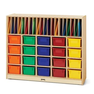 Online Reviews Classroom Organizer 40 Compartment Cubby with Casters By Jonti-Craft