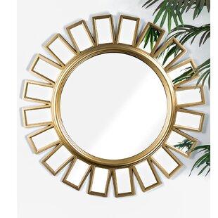 Stephen Framed Hanging Wheel Vanity Wall Mirror