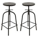 Schaffer Brage Living Adjustable Height Barstool (Set of 2) by Williston Forge