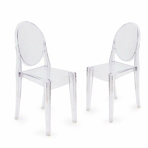 Ghost Style Dining Chair (Set of 2) by Homebeez