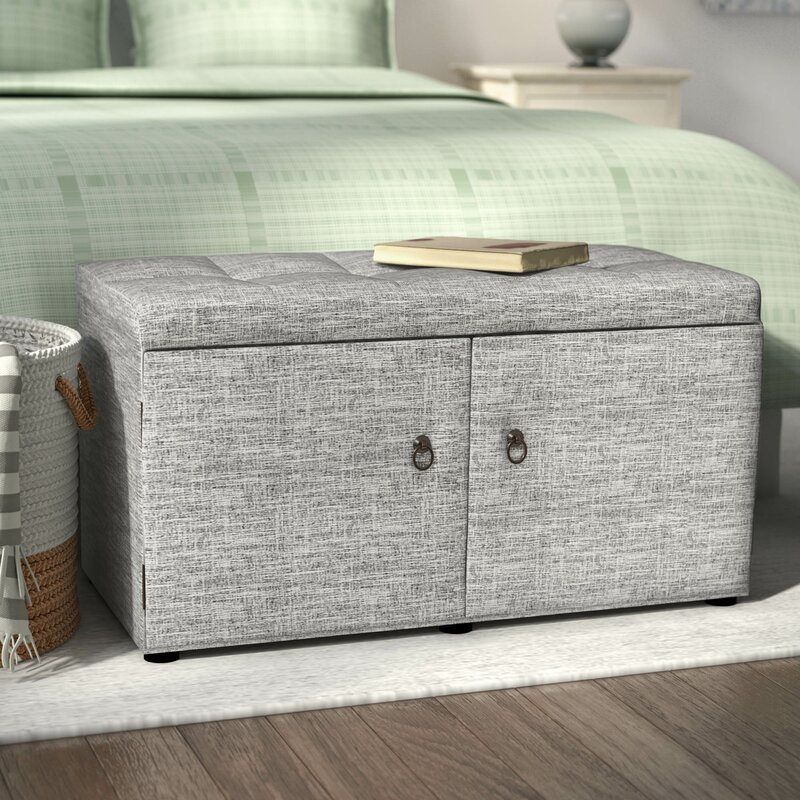 Argent Upholstered Shoe Storage Bench
