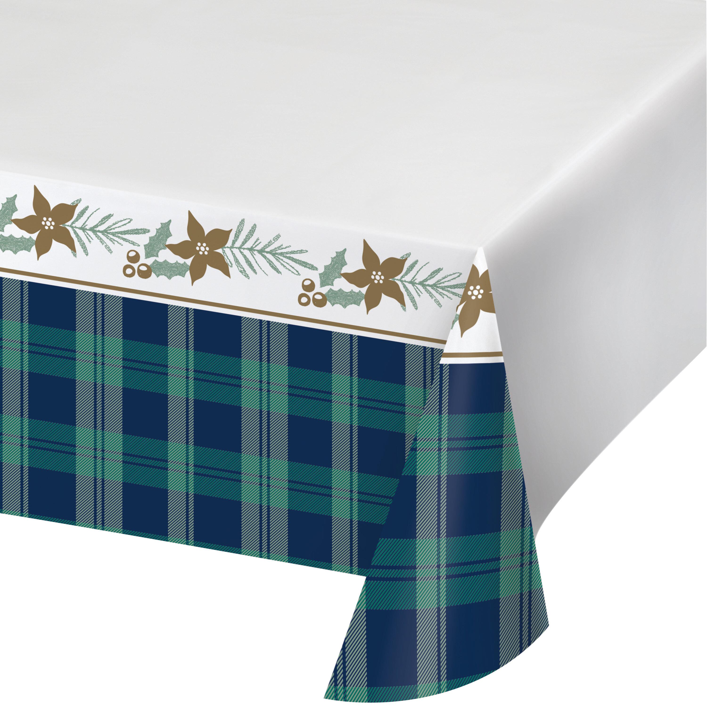 Creative Converting Holiday Tartan Basic Plastic Disposable Tablecloth Wayfair