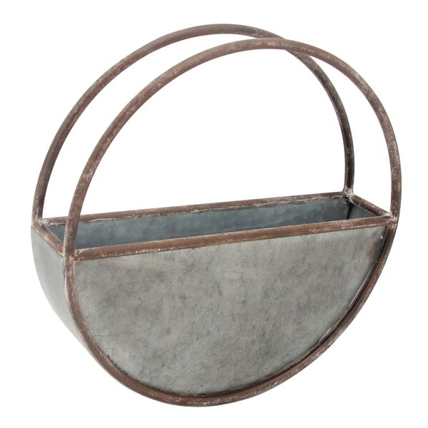 Foreside Home & Garden Round Metal Flower Hanging Planter & Reviews by Foreside Home & Garden