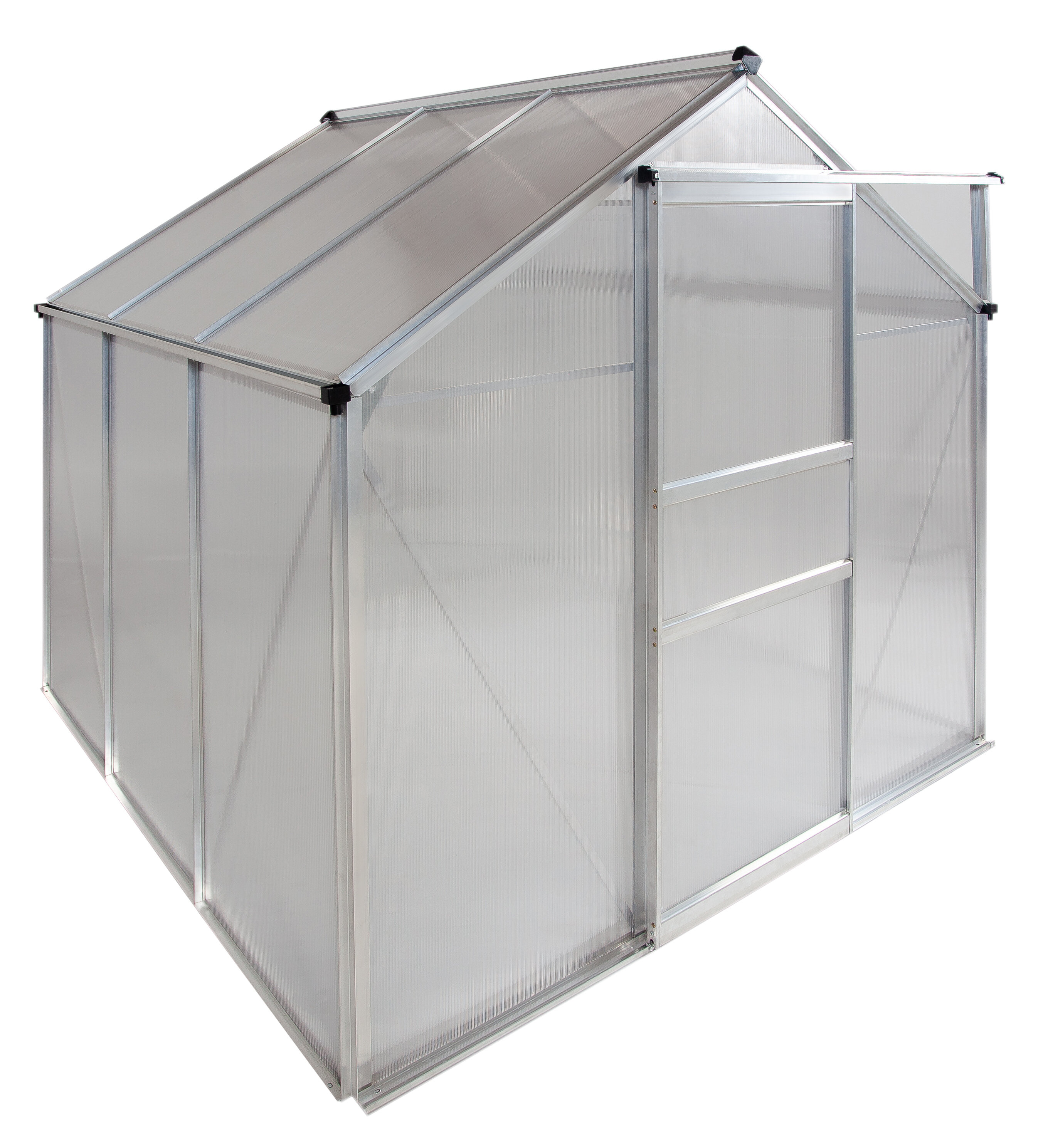 Ogrow Aluminium Greenhouse Walk In 6 X 6 With Sliding Door And Adjustable Roof Vent Wayfair