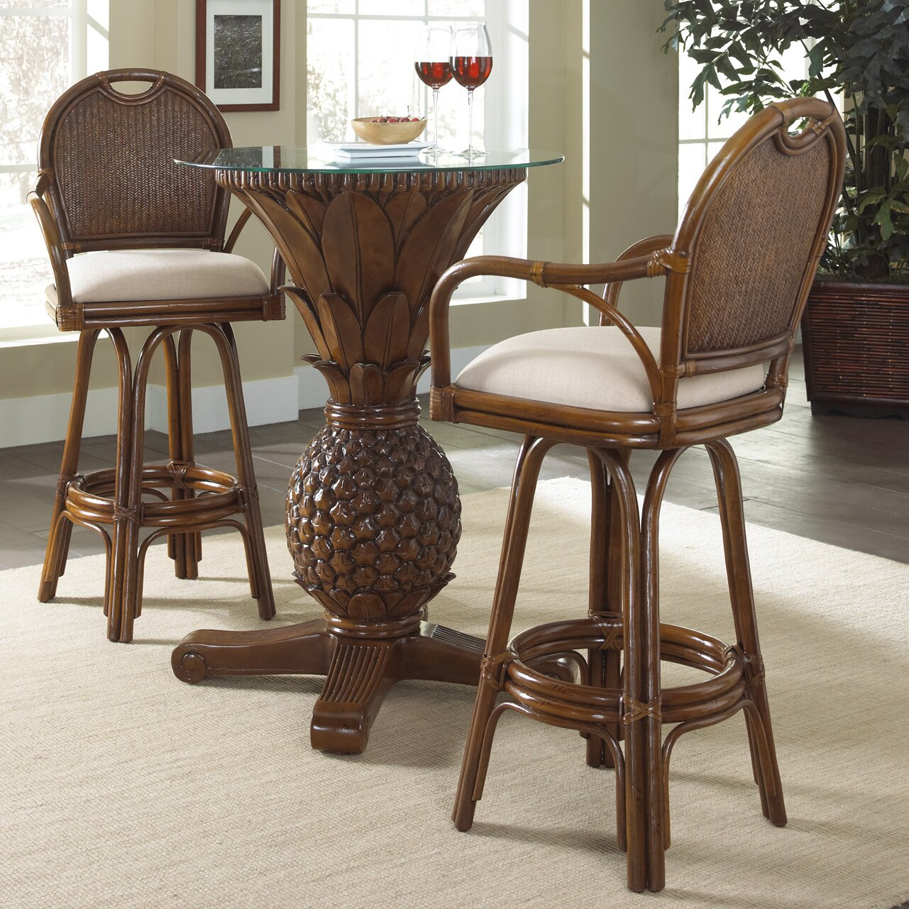Kitchen pub table and chairs - Bay Point 3 Piece Pub Table Set