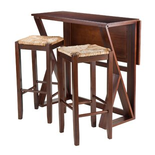 Brayan 3 Piece Drop Leaf Dining Set Latitude Run