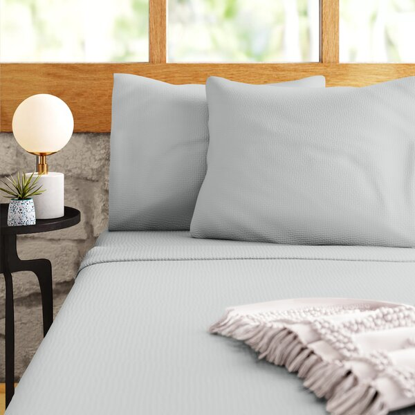 Modern Contemporary 200 Thread Twin Fitted Sheet Cotton Allmodern