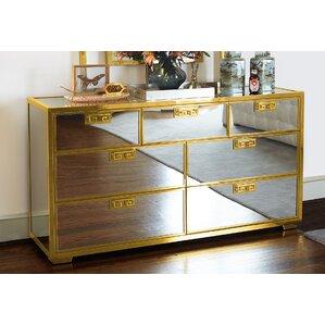 Soho Luxe Mirror 7 Drawer Dresser by Bernhardt