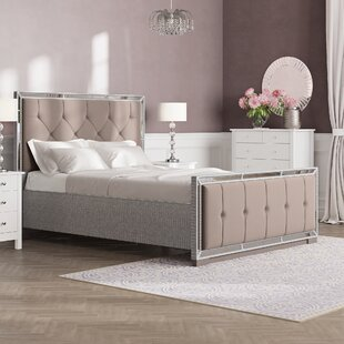 Review Adriana Upholstered Bed Frame