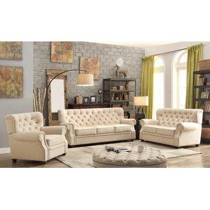 Ventura 3 Piece Living Room Set by Mulhouse ..