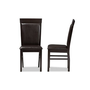 Micky Upholstered Dining Chair (Set of 2) Wrought Studio