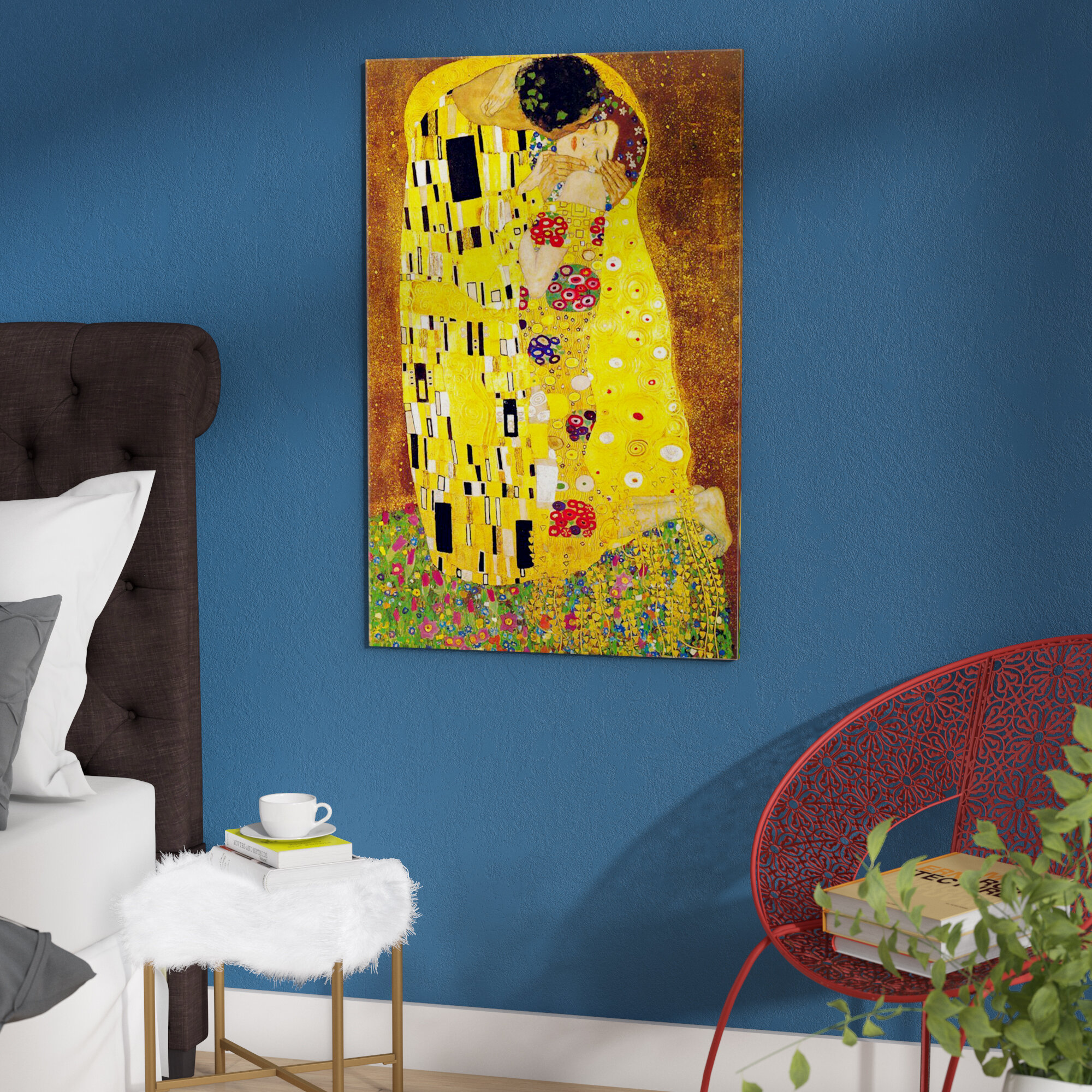 East Urban Home \'The Kiss\' by Gustav Klimt Graphic Art Print ...