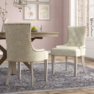 Vicini Upholstered Dining Chair (Set Of 2) by Ophelia & Co. Best Choices