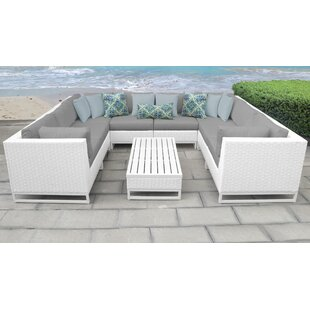 Miami 9 Piece Sectional Seating Group with Cushions