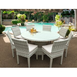 Rosecliff Heights Ansonia Wicker 9 Piece Dining Set