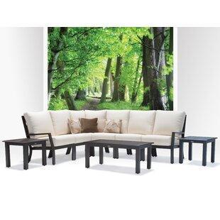 Verona 8 Piece Sunbrella Sectional Set with Cushions