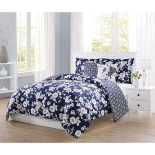 Hickson 5 Piece Reversible Comforter Set