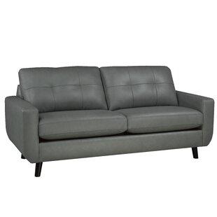 Brayden Studio Lathrop Genuine Leather Sofa