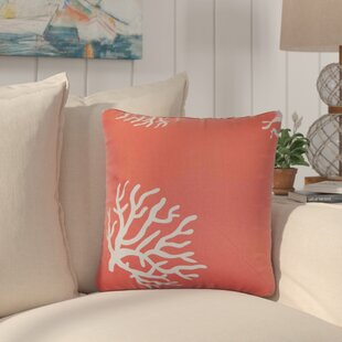 Dredgers Coral Cotton Throw Pillow (Set of 2)
