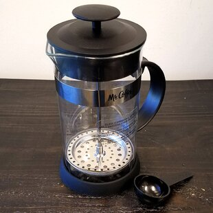 4-Cup Mr. Coffee Cafe Oasis Glass Body French Press Coffee Maker