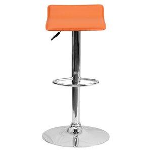 Claudine Adjustable Height Swivel Bar Stool by Zipcode Design