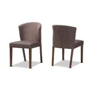 Stalnaker Mid-Century Modern Upholstered Dining Chair (Set of 2) Brayden Studio