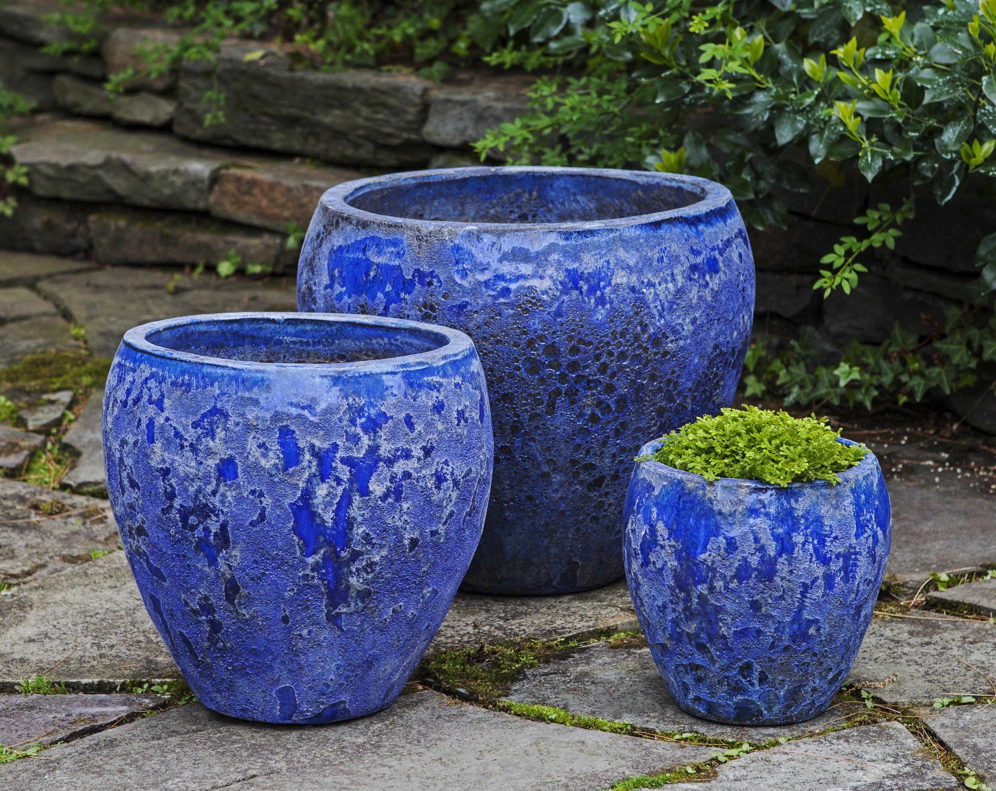 Campania International Inc Symi 3 Piece Pot Planter Set Perigold