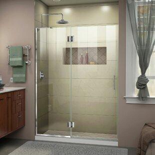 DreamLine Unidoor-X 47 in. W x 72 in. H Frameless Hinged Shower Door