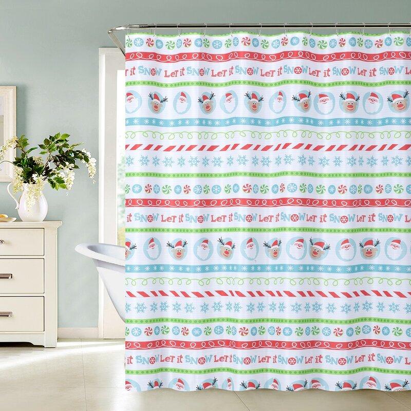 Alina Christmas Elf Shower Curtain