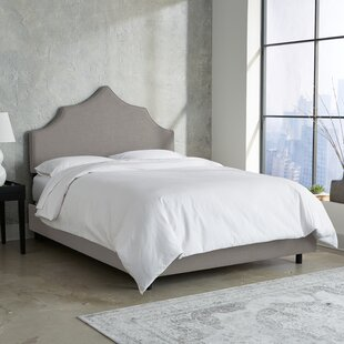 Suttons Notched Upholstered Panel Bed by Rosdorf Park