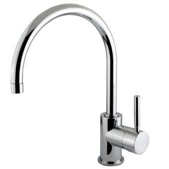 8-1//2 Elements of Design ES8031DL South Beach Single Handle Vessel Sink without Pop-Up Polished Chrome