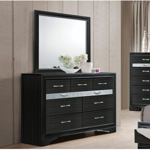 Gilliam 9 Drawer Double Dresser with Mirror by Ivy Bronx
