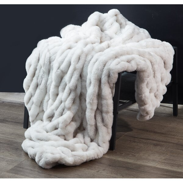 Large Faux Fur Throw Wayfair