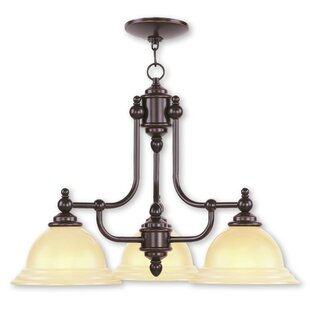 Brunette 3-Light Shaded Metal Chandelier by Alcott Hill