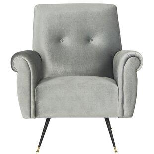 Richardson Retro Mid Century Velvet Armchair by Willa Arlo Interiors