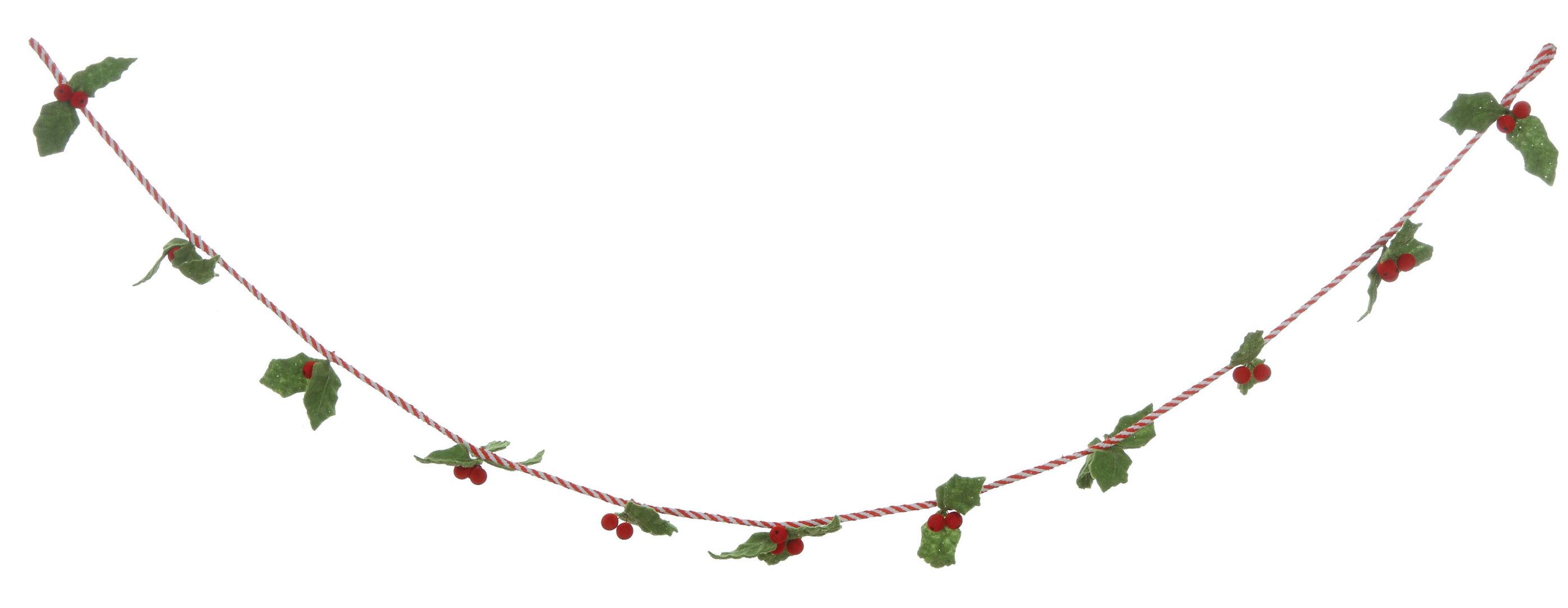 The Holiday Aisle 6 Felt Holly Leaf Garland Reviews Wayfair