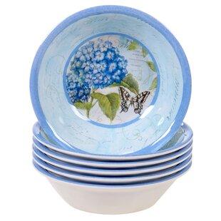 Marquis Hydrangea 22 oz. Melamine Dining Bowl (Set of 6)