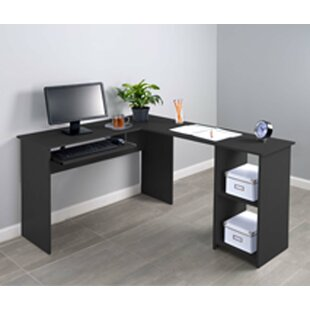 Hanke Corner 2 Side Shelve L-Shape Computer Desk