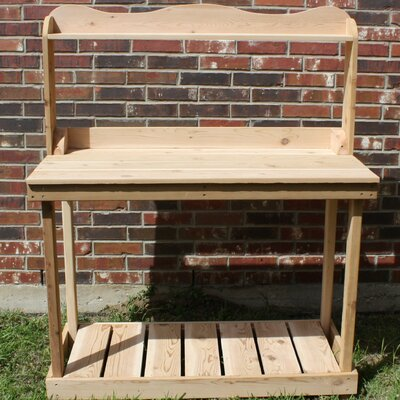 Tremendous Decorative Cedar Potting Bench Threeman Products Size 4 W Creativecarmelina Interior Chair Design Creativecarmelinacom